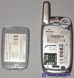 Medion Multimedia Handy ( MD 95100 ) - Rückseite ohne Akku
