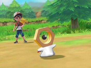 Meltan uns Ash mit Pikatchu in Pokémon Go