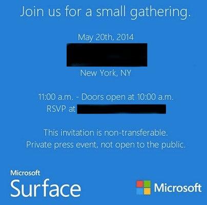 Microsoft Surface Event 20.Mai NY