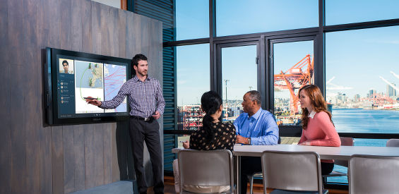 Ein Meeting mit dem Microsoft Surface Hub