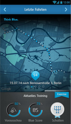 Mirrorlink-App VW Spritspartrainer