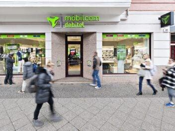 Außenansicht eines Shop von mobilcom-debitel