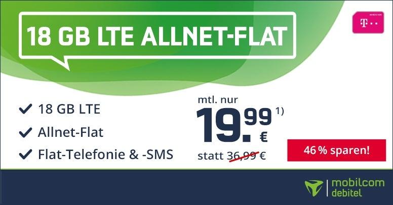 mobilcom-debitel Telekom-LTE mit 18 GB