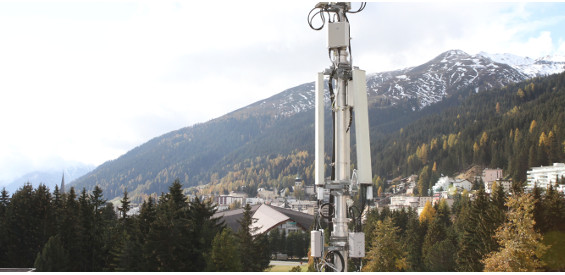 Mobilfunk-Basisstation der Swisscom