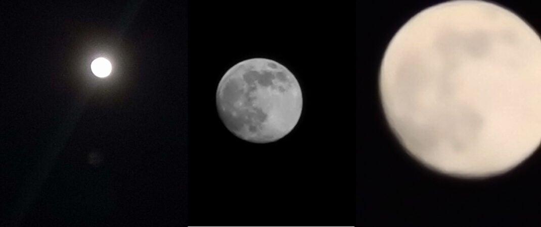 Mond fotografiere mit dem Smartphone