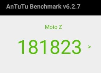 Moto Z2 Force Benchmark-Test