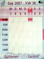 MOTORAZR2 V8: Kalender