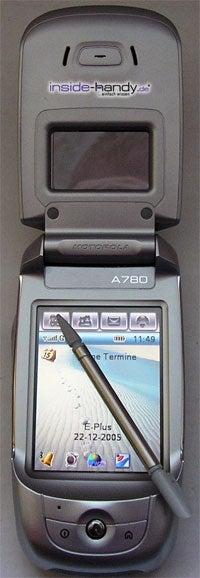 Motorola A780 - aufgeklappt