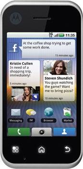 Motorola Backflip Datenblatt - Foto des Motorola Backflip