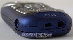 Motorola C116 - Unterseite