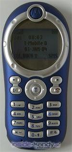 Motorola C116 - Voderseite