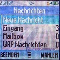 Motorola C650 - Display SMS Menü