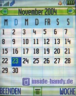 Motorola E550 - Display Kalender Monatsansicht