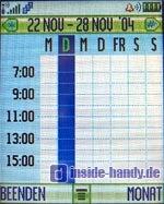 Motorola E550 - Display Kalender Wochenansicht