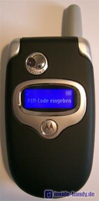 Motorola E550 - Frontalansicht geschlossen