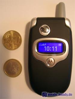 Motorola E550 - Grössenvergleich