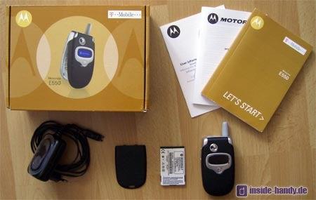 Motorola E550 - Lieferumfang