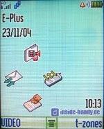 Motorola E550 - Normalbildschirm