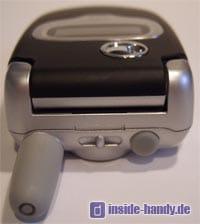 Motorola E550 - Oberseite