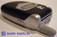 Motorola E550 - seitliche Oberansicht