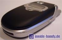 Motorola E550 - Unterseite