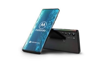 Motorola Edge Front und Rückseite