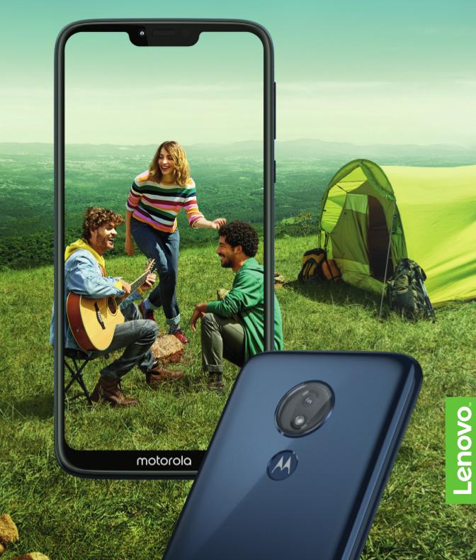 Motorola Moto G7 Power mit Campern im Display