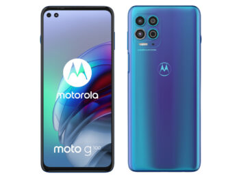 Motorola Moto G100 von vorn und hinten vor weißem Hintergrund
