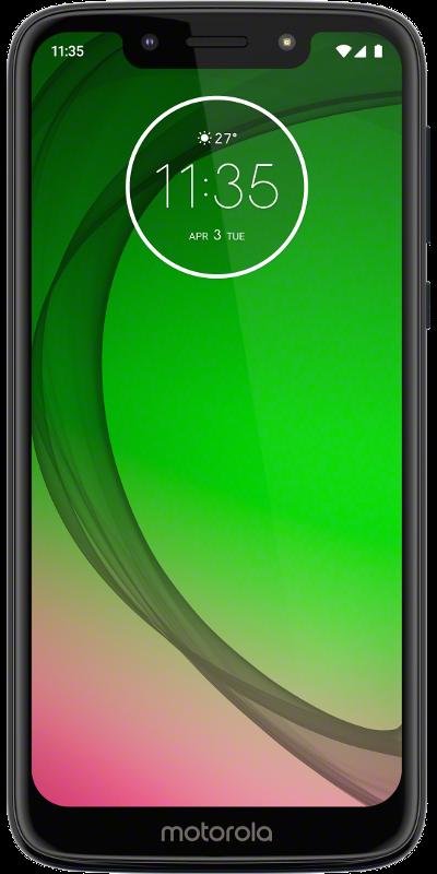 """Das Motorola Moto G7 Play in der Farbe """"Deep Indigo"""" in der Frontalansicht"""
