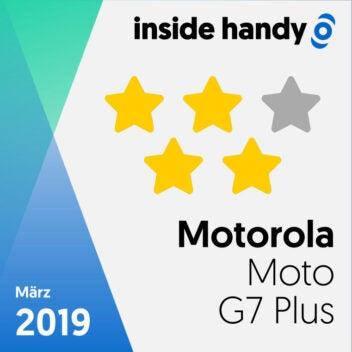 Das Testsiegel des Motorola Moto G7 Plus