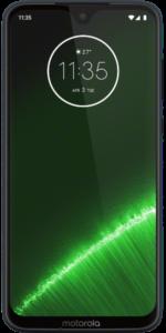 Das Motorola Moto G7 Plus in der Frontalansicht.
