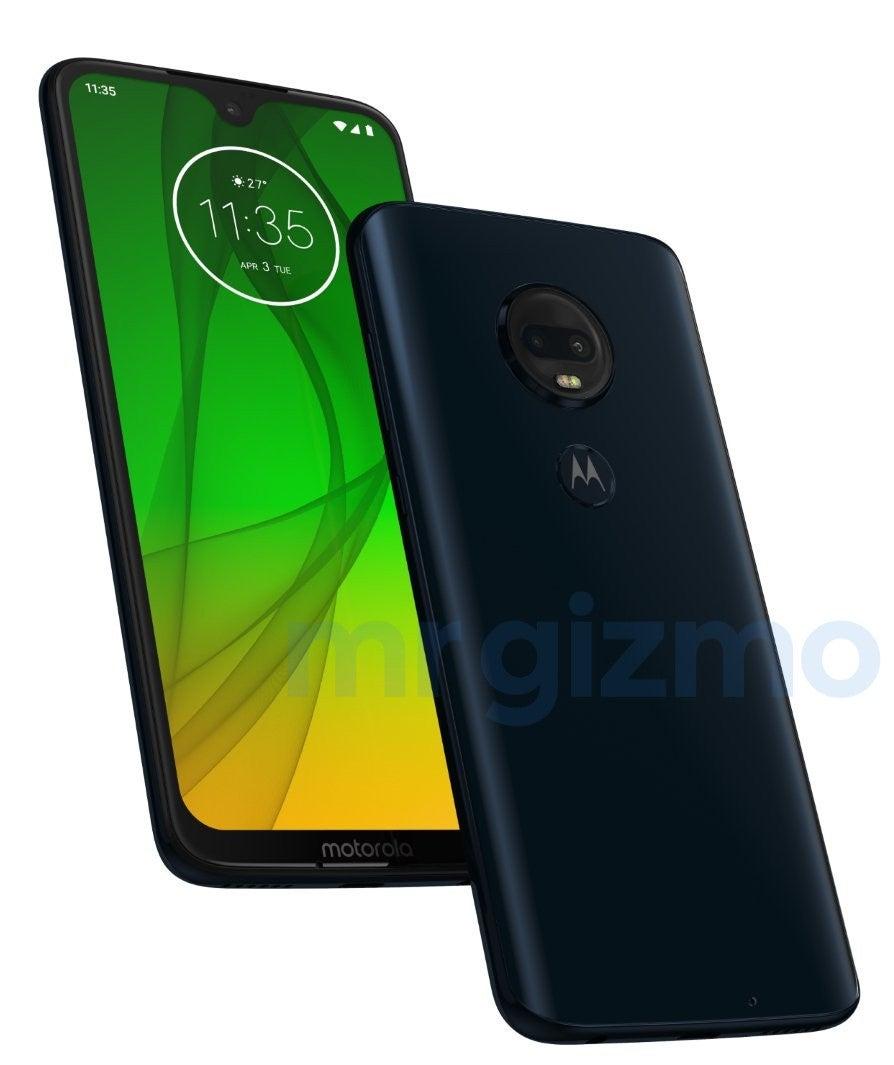 Motorola Moto G7 Plus von vorne und hinten