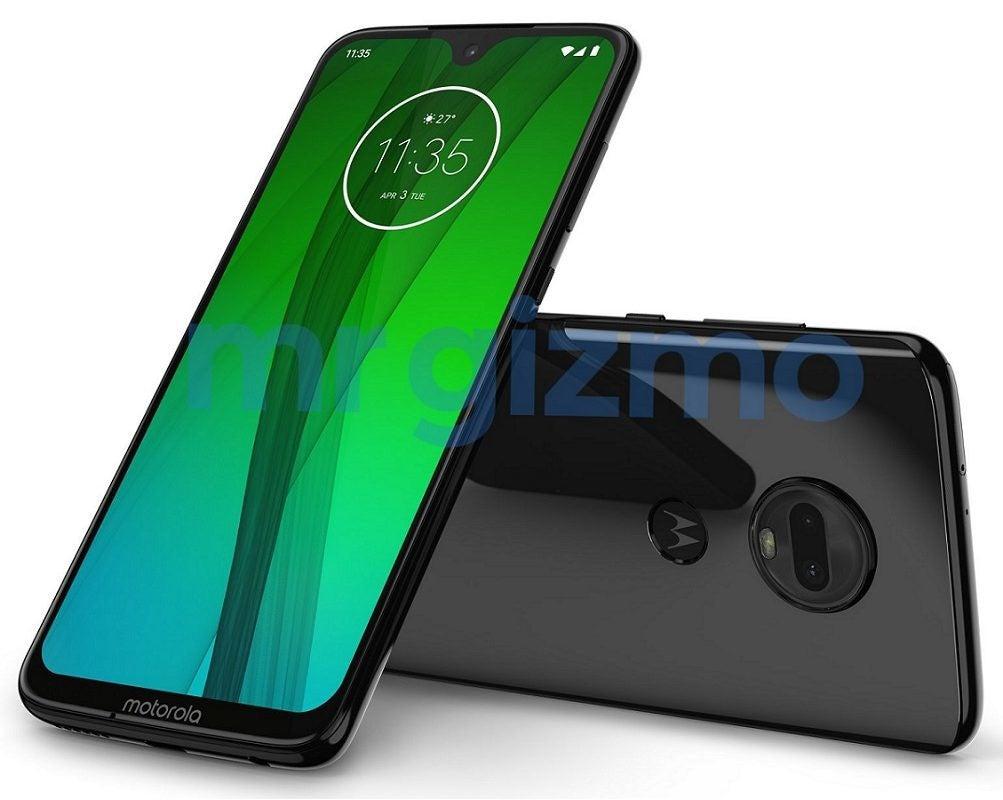 Motorola Moto G7 von vorne und hinten