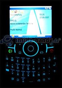Motorola Moto Q 9h: Beleuchtung