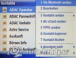 Motorola Moto Q 9h: Kontaket