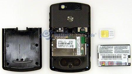 Motorola Moto Q 9h: zerlegtes Gerät