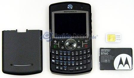 Motorola Moto Q 9h: zerlegtes Gerät vorne