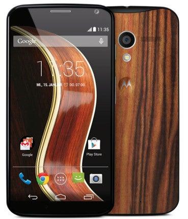 Motorola Moto X mit Holzrückseite