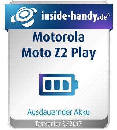 Testsiegel des Motorola Moto Z2 Play