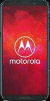 Das Motorola Moto Z3 Play in der Frontalansicht auf weißem Grund.