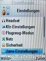 Motorola MotoKRZR K3: Einstellungen