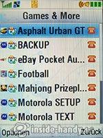 Motorola MotoKRZR K3: Games