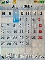 Motorola MotoKRZR K3: Kalender