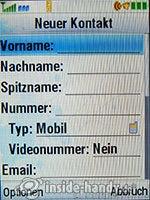 Motorola MotoKRZR K3: Kontakte