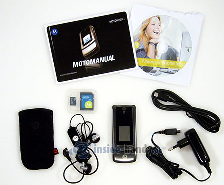 Motorola MotoKRZR K3: Lieferumfang