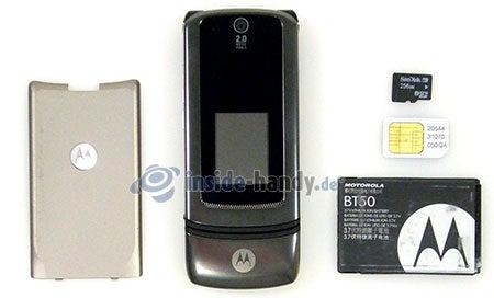 Motorola MotoKRZR K3: zerlegt in Bestandteile