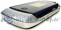 Motorola MotoRAZR MAXX: Draufsicht unten rechts