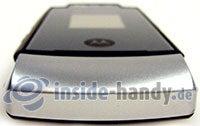 Motorola MotoRAZR MAXX: Draufsicht unten