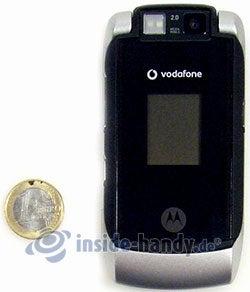 Motorola MotoRAZR MAXX: Größenverhältnis