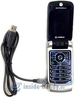 Motorola MotoRAZR MAXX: mit USB-Kabel